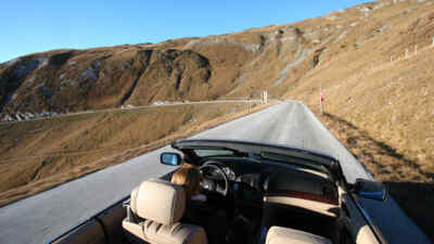 cabrio on the Nockalm Road