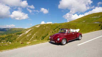 oldtimer on the nockalm road