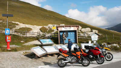 Motorradfahrer beim Biker Safe
