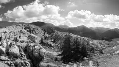 Schwarz Weiss Landschaft