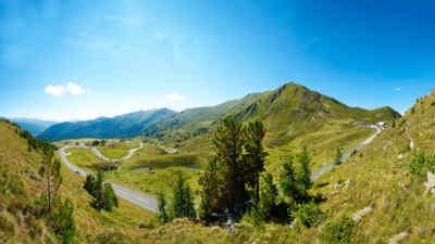 Nockalmstrasse, Weitblicke auf die Bergwelt