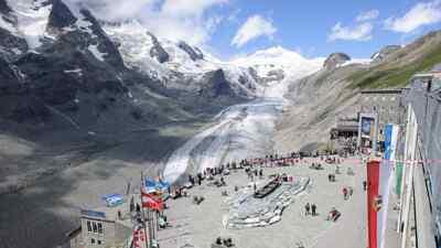 Der Gletscher an der Hochalpenstraße