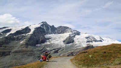 Wandern am Großglockner in Österreich