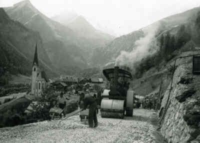 Bau der Großglockner Hochalpenstraße